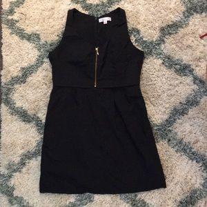 UNIQLO Shipley & Halmos top zip black dress